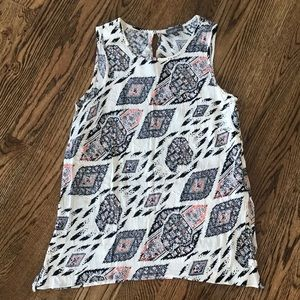 VINCE CAMUTO PRINTED TANK BLOUSE